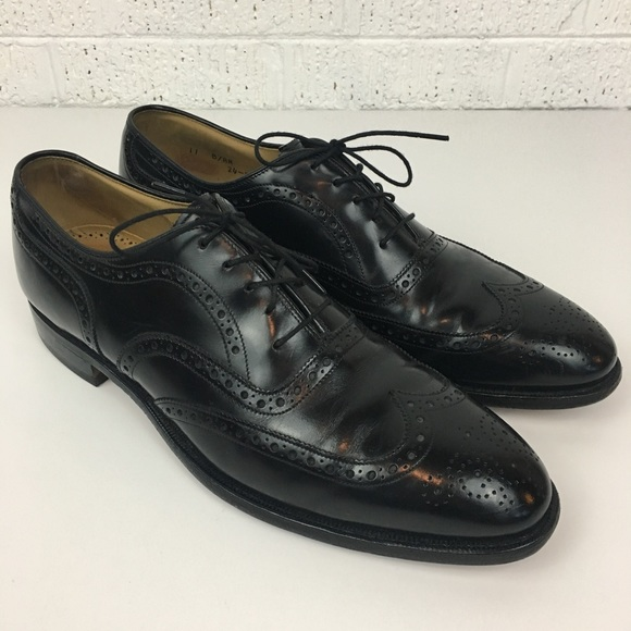 Johnson and Murphy J&M oxford wing tip shoes mens 10 Brown Dress Shoes